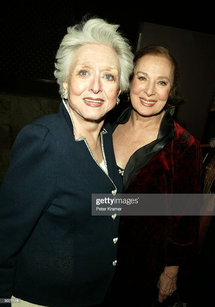 Actresses Celeste Holm and Rita Gam attend the AMPAS Official Oscar Night Celebration at Le Cirque February 29, 2004 in New York City.