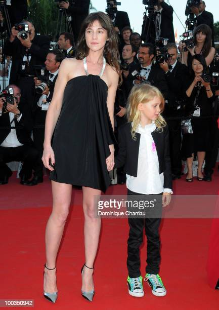 Actresses Charlotte Gainsbourg and Morgana Davies attend 'The Tree' Premiere held at the Palais des Festivals during the 63rd Annual International...