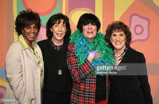 Actresses Chelsea Brown Lily Tomlin Jo Anne Worley and Ruth Buzzi attend the 'Laugh In' cast reunion at the Mohegan Sun 10th Anniversary celebration...