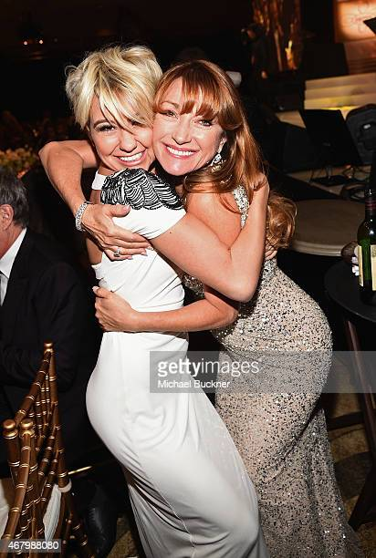 Actresses Chelsea Kane and Jane Seymour attend Muhammad Ali's Celebrity Fight Night XXI at the JW Marriott Phoenix Desert Ridge Resort Spa on March...