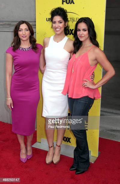 Actresses Chelsea Peretti Stephanie Beatriz and Melissa Fumero attend 'Brooklyn NineNine' FYC Special Screening Event at Universal Studios Backlot on...