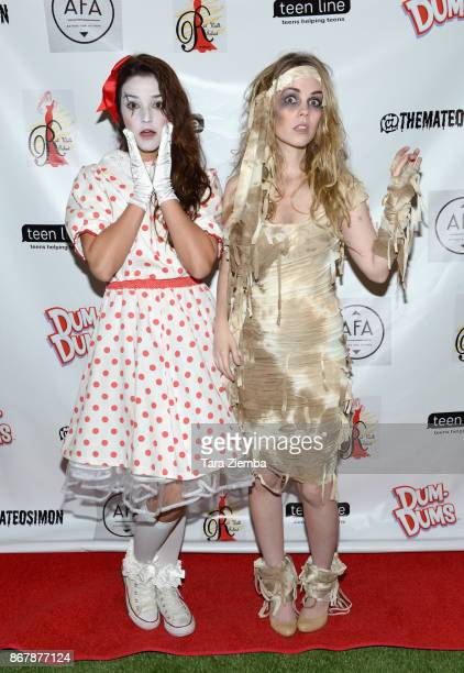Actresses Chelsea Ricketts and Madison McDermott attend Mateo Simon's Halloween Charity Event on October 28 2017 in Burbank California