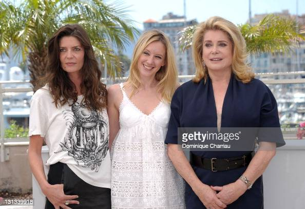Actresses Chiara Mastroianni Ludivine Sagnier and Catherine Deneuve attend the 'Les BienAimes' Photocall during the 64th Cannes Film Festival at the...