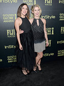 Actresses Chloe Bennet and Emily Bett Rickards attend Hollywood Foreign Press Association and InStyle Celebration of The 2016 Golden Globe Award...