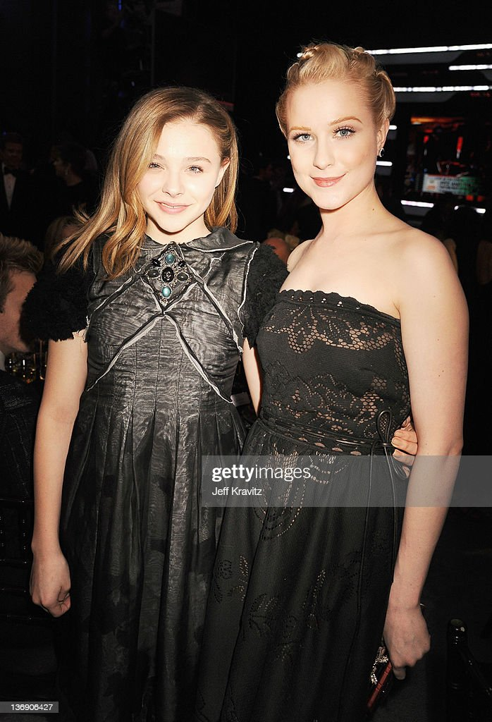 Actresses Chloe Moretz and <a gi-track='captionPersonalityLinkClicked' href=/galleries/search?phrase=Evan+Rachel+Wood&family=editorial&specificpeople=203074 ng-click='$event.stopPropagation()'>Evan Rachel Wood</a> attend the 17th Annual Critics' Choice Movie Awards held at The Hollywood Palladium on January 12, 2012 in Los Angeles, California.
