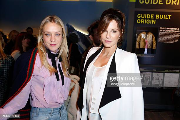 Actresses Chloe Sevigny and Kate Beckinsale attend the Eddie Bauer Adventure House during the 2016 Sundance Film Festival at Village at The Lift on...
