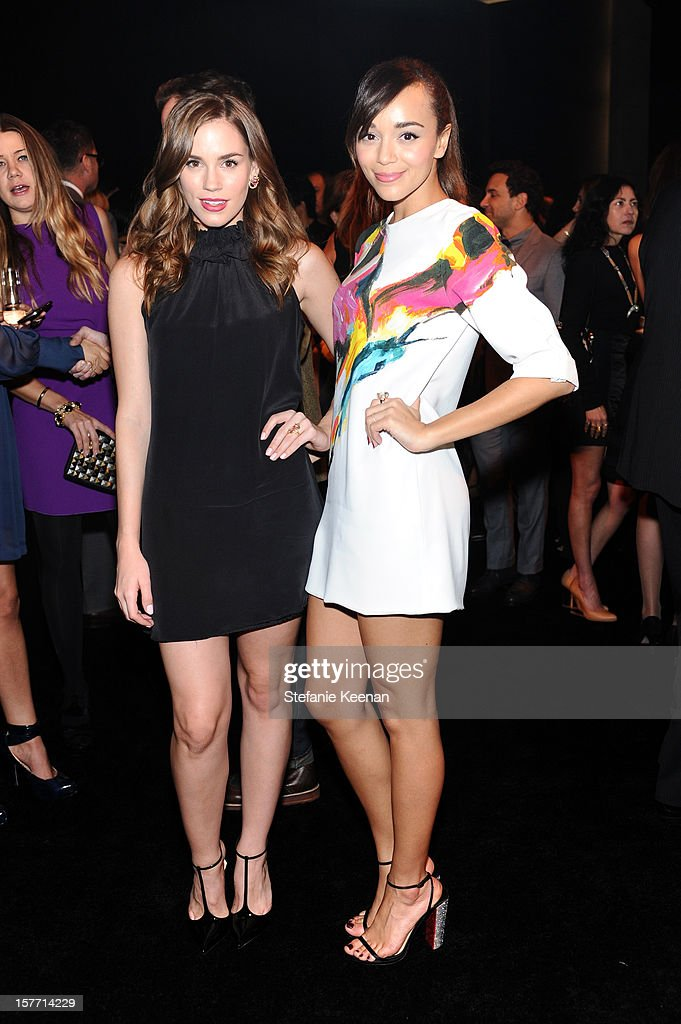 Actresses Christa B. Allen and Ashley Madekwe attend the Rodeo Drive Walk Of Style honoring BVLGARI and Mr. Nicola Bulgari held at Bulgari on December 5, 2012 in Beverly Hills, California.