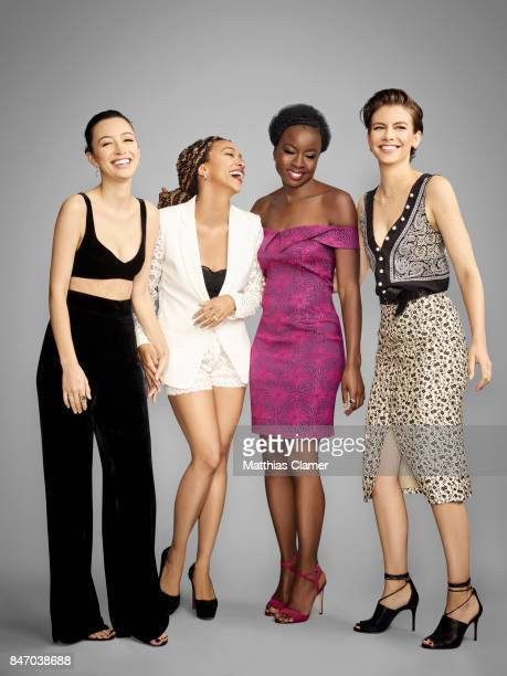 Actresses Christian Serratos Sonequa MartinGreen Danai Gurira and Lauren Cohan from 'The Walking Dead' are photographed for Entertainment Weekly...