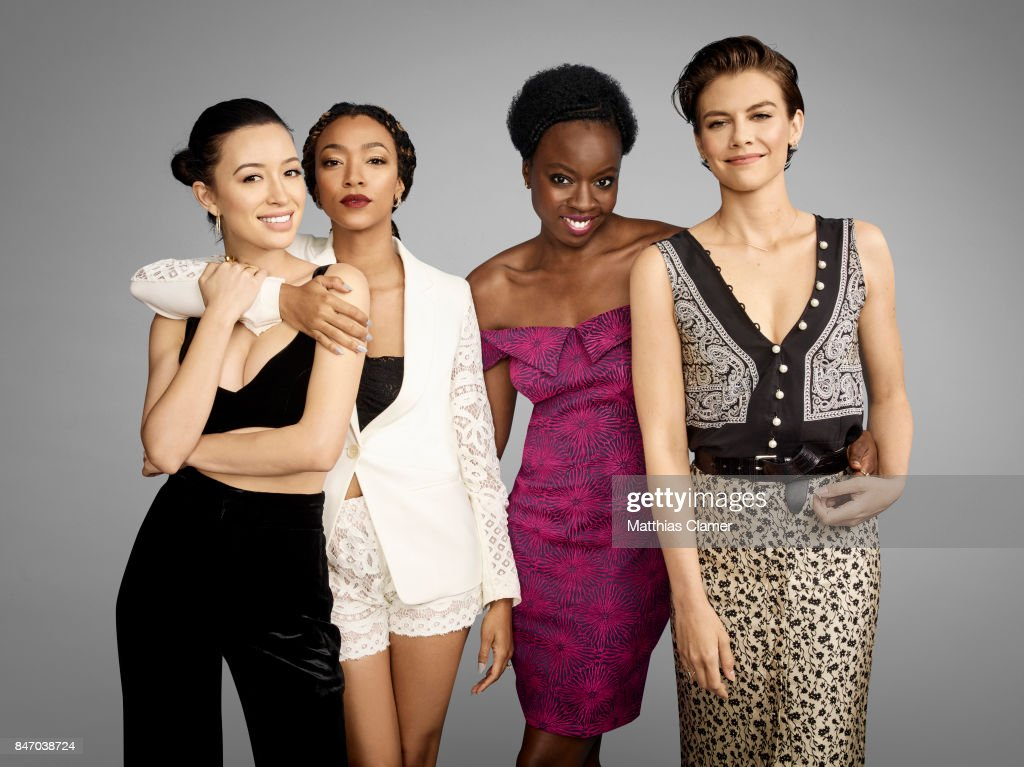 Actresses Christian Serratos, Sonequa Martin-Green, Danai Gurira and Lauren Cohan from 'The Walking Dead' are photographed for Entertainment Weekly Magazine on July 23, 2016 at Comic Con in the Hard Rock Hotel in San Diego, California.