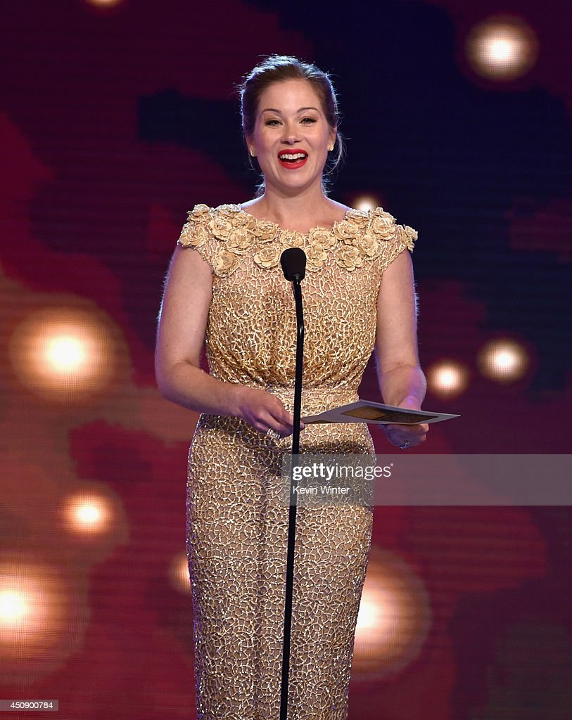 Actresses <a gi-track='captionPersonalityLinkClicked' href=/galleries/search?phrase=Christina+Applegate&family=editorial&specificpeople=171273 ng-click='$event.stopPropagation()'>Christina Applegate</a> speaks onstage during the 4th Annual Critics' Choice Television Awards at The Beverly Hilton Hotel on June 19, 2014 in Beverly Hills, California.
