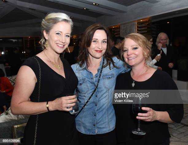 Actresses Cissy Jones Courtenay Taylor and Melissa Hutchison attend BAFTA Honours Riot Games with Special Award at The London West Hollywood on June...
