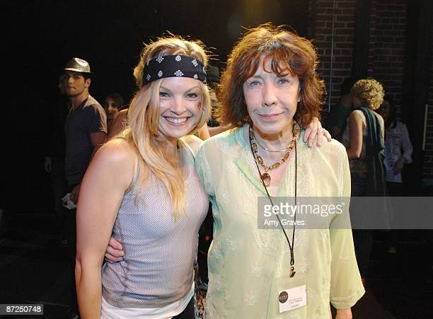 Actresses Clare Kramer and Lily Tomlin at The Echo Theater Company Lip Sync Contest Benefit on May 14 2009 in Los Angeles California