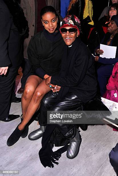 Actresses Condola Rashad and Cicely Tyson attend the B Michael America fashion show during MercedesBenz Fashion Week Fall 2014 at The Pavilion at...
