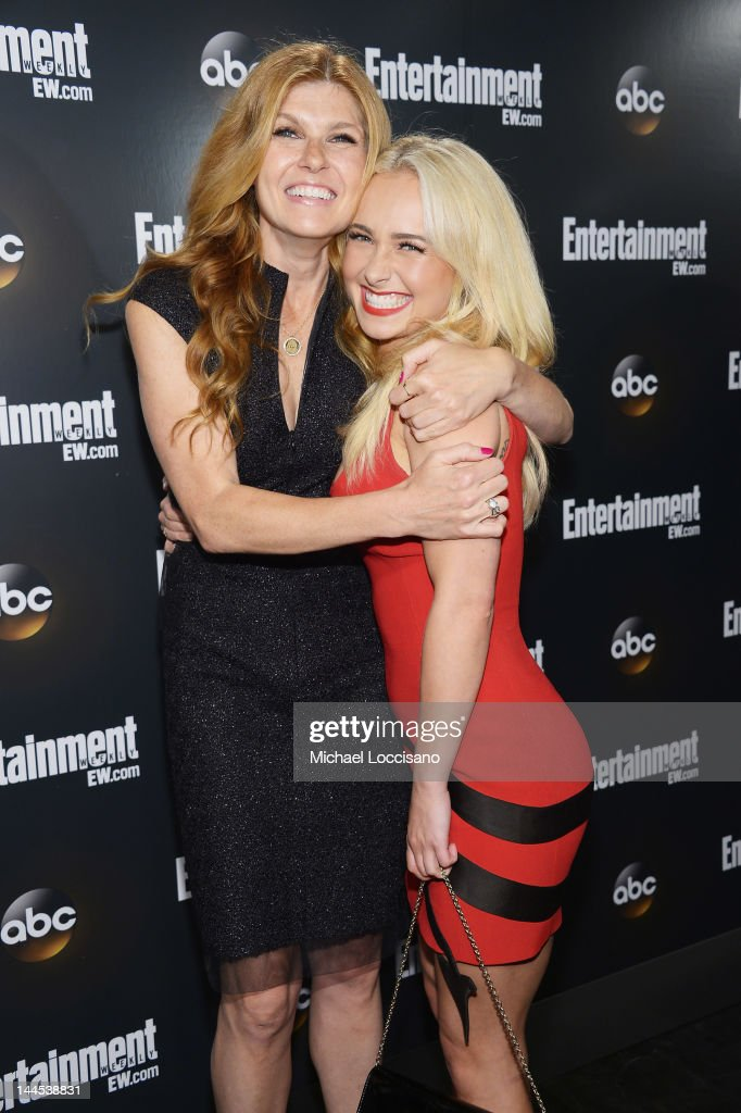 Actresses Connie Britton (L) and Hayden Panettiere attend the Entertainment Weekly & ABC-TV Up Front VIP Party at Dream Downtown on May 15, 2012 in New York City.