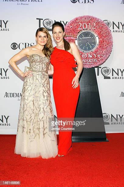 Actresses Cote de Pablo and Celia KeenanBolger attend the 66th Annual Tony Awards at The Beacon Theatre on June 10 2012 in New York City