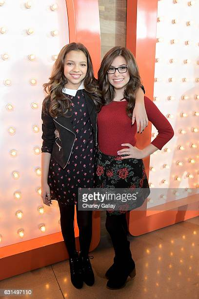 Actresses Cree Cicchino and Madisyn Shipman from Game Shakers attend the Ribbon Cutting Ceremony to celebrate the Grand Opening of Nickelodeon's...