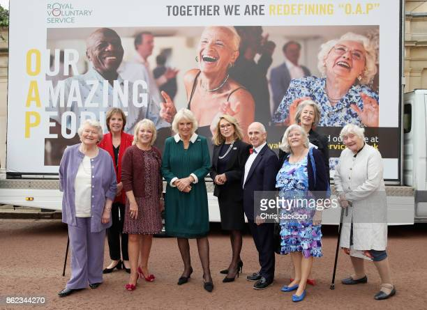 Actresses Dame Patricia Routledge Penelope Wilton guest Camilla Duchess of Cornwalll actress Felicity Kendall dancer Wayne Sleep guest actress...
