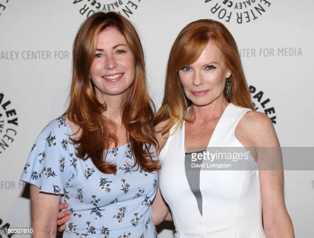Actresses Dana Delany and Marg Helgenberger attend PaleyFestPreviews Fall TV Fall Flashback Reflections 'China Beach' 25 Years Later at The Paley...