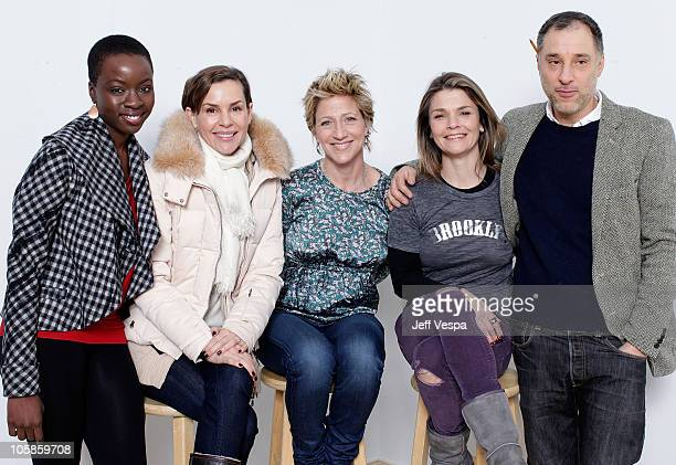 Actresses Danai Gurira Embeth Davidtz Edie Falco Kathryn Erbe and director Eric Mendelsohn pose for a portrait during the 2010 Sundance Film Festival...