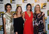 Actresses Danay García Alycia Debnam Carey Mercedes Masohn and Kim Dickens attend AMC's 'Fear The Walking Dead' Panel during ComicCon International...