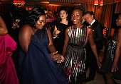 Actresses Danielle Brooks and Lupita Nyong'o attend The Weinstein Company Netflix's 2015 SAG After Party In Partnership With Laura Mercier at Sunset...