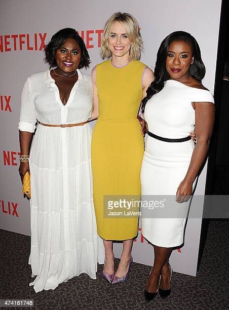 Actresses Danielle Brooks Taylor Schilling and Uzo Aduba attend Netflix's 'Orange Is The New Black' For Your Consideration screening and QA at...