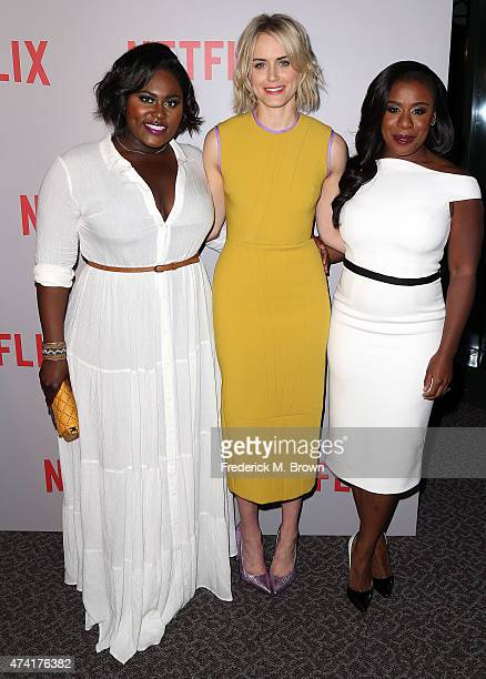 Actresses Danielle Brooks Taylor Schilling and Uzo Aduba attend Netflix's 'Orange Is The New Black' For Your Consideration Screening and Q A at the...