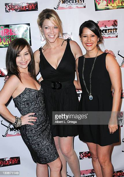 Actresses Danielle Harris Stephanie Saditz and Kimberly McCulloch participate in Shockfest Film Festival 50 held at Raleigh Studios on November 19...