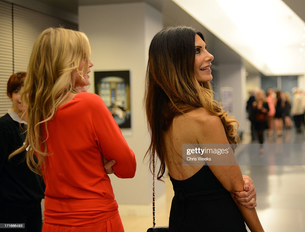 Actresses <a gi-track='captionPersonalityLinkClicked' href=/galleries/search?phrase=Daryl+Hannah&family=editorial&specificpeople=201860 ng-click='$event.stopPropagation()'>Daryl Hannah</a> (L) and <a gi-track='captionPersonalityLinkClicked' href=/galleries/search?phrase=Hilary+Shepard&family=editorial&specificpeople=624069 ng-click='$event.stopPropagation()'>Hilary Shepard</a> attend the Helmut Newton opening night exhibit at Annenberg Space For Photography on June 27, 2013 in Century City, California.