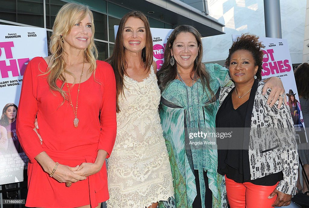 Actresses Daryl Hannah, Brooke Shields, Camryn Manheim and Wanda Sykes arrive at the premiere of 'The Hot Flashes' at ArcLight Cinemas on June 27, 2013 in Hollywood, California.
