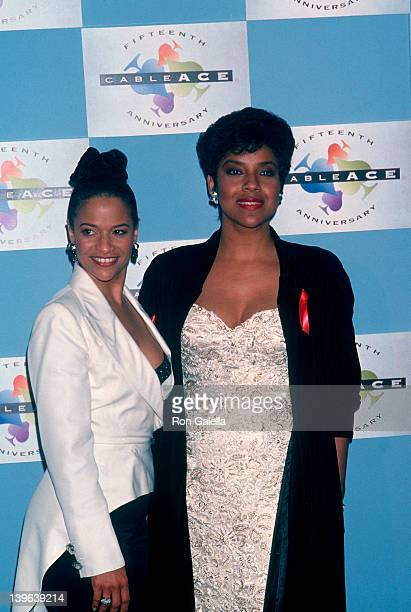 Actresses Debbie Allen and Phylicia Rashad attending 15th Annual Cable ACE Awards on Januay 16 1994 at the Pantages Theater in Hollywood California