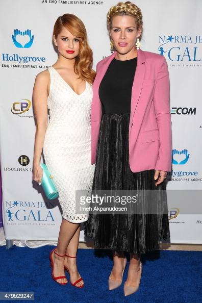 Actresses Debby Ryan and Busy Philipps attend the 2nd Annual Norma Jean Gala at The Paley Center for Media on March 18 2014 in Beverly Hills...