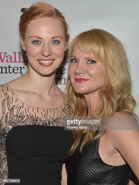 Actresses Deborah Ann Woll and Tara Buck attend the afterparty following opening night performance of 'Parfumerie' at Wallis Annenberg Center for the...