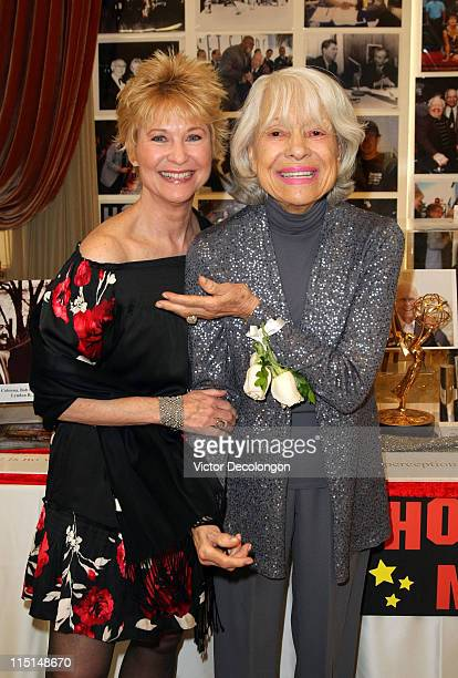 Actresses Dee Wallace and Carol Channing attend The Hollywood Chamber Community Foundation's '2011 Heroes Of Hollywood Luncheon' at the Taglyan...