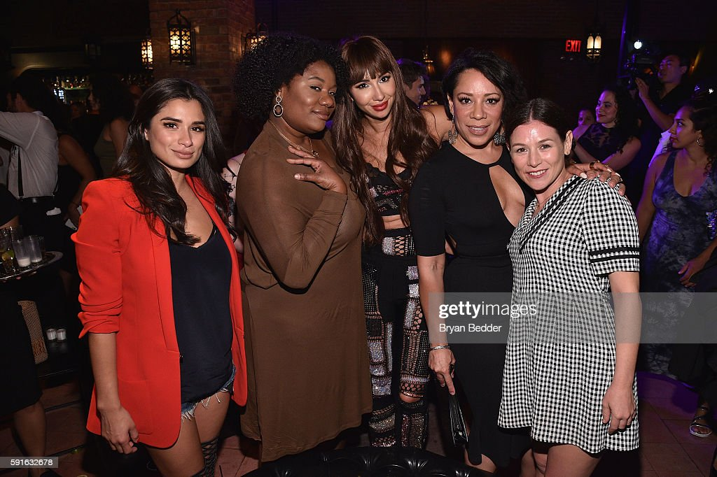 Actresses Diane Guerrero Adrienne Moore Jackie Cruz and Selenis Leyva attend the Remy Martin launch of The 2016 Circle Of Centaurs with Jackie Cruz...
