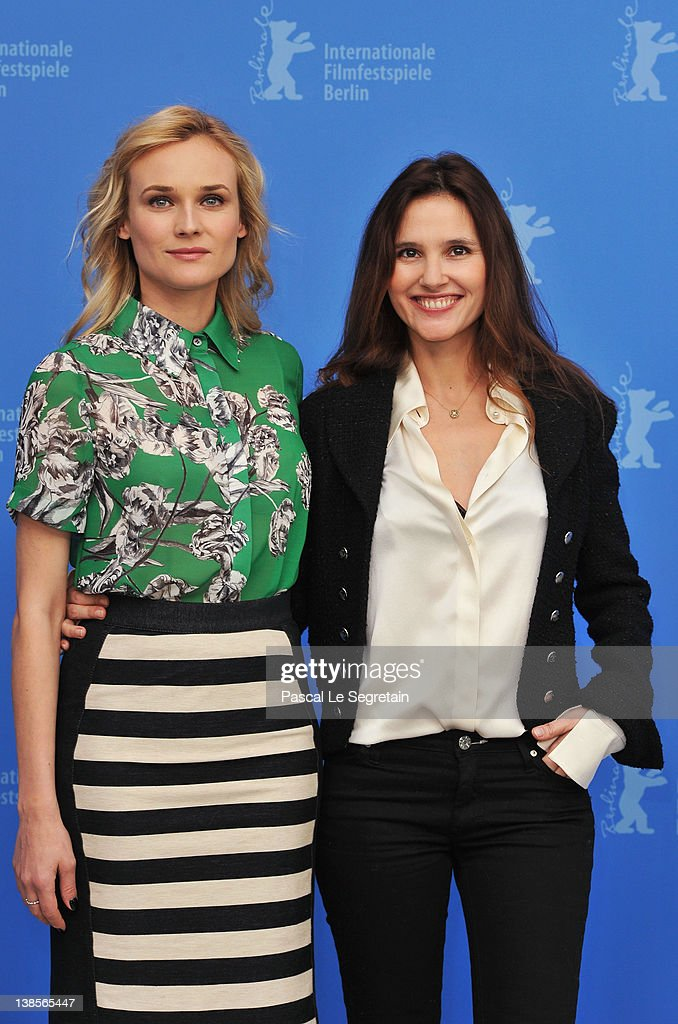 Actresses Diane Kruger and Virginie Ledoyen attend the 'Les Adieux De La Reine' Photocall during day one of the 62nd Berlin International Film...