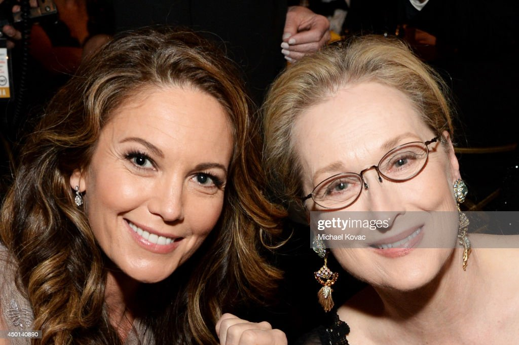 Actresses Diane Lane (L) and Meryl Streep attend the 2014 AFI Life Achievement Award: A Tribute to Jane Fonda at the Dolby Theatre on June 5, 2014 in Hollywood, California. Tribute show airing Saturday, June 14, 2014 at 9pm ET/PT on TNT.