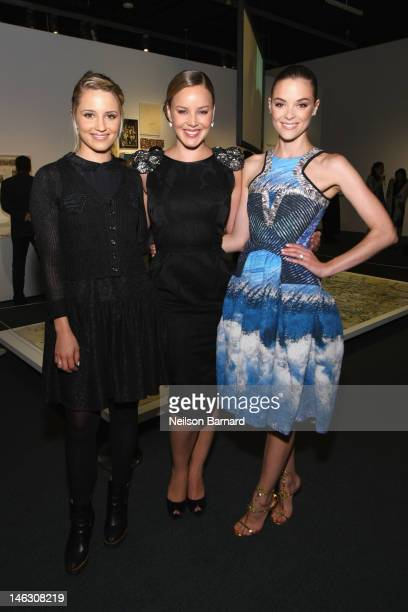 Actresses Dianna Agron Abbie Cornish and Jaime King attend the Persol Magnificent Obsessions exhibition honoring Arianne Phillips Patricia Clarkson...