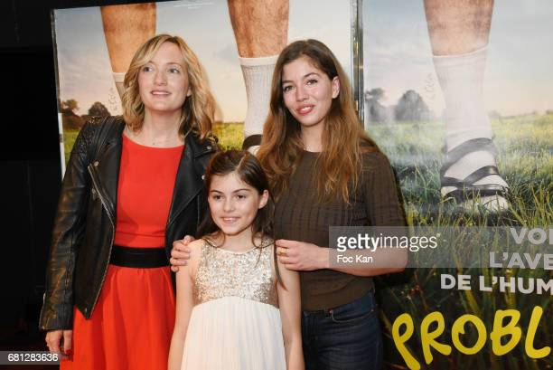 Actresses Dorothee Pousseo Marie Helmer and Celia Rosich attend 'Problemos' Paris Premiere At UGC Cine Cite Les Halles on May 9 2017 in Paris France