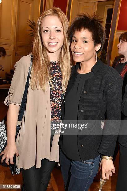 Actresses Dounia Coesens and Sabine Cisse from Plus Belle La Vie TV serial attend '10eme Rencontres Internationales de Cinema de Patrimoine 2016'...