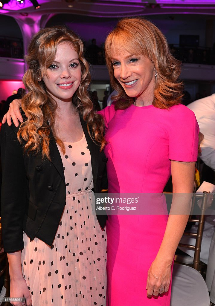 Actresses <a gi-track='captionPersonalityLinkClicked' href=/galleries/search?phrase=Dreama+Walker&family=editorial&specificpeople=5502455 ng-click='$event.stopPropagation()'>Dreama Walker</a> and <a gi-track='captionPersonalityLinkClicked' href=/galleries/search?phrase=Kathy+Griffin&family=editorial&specificpeople=203161 ng-click='$event.stopPropagation()'>Kathy Griffin</a> attend The Hollywood Reporter's 'Power 100: Women In Entertainment' Breakfast at the Beverly Hills Hotel on December 5, 2012 in Beverly Hills, California.