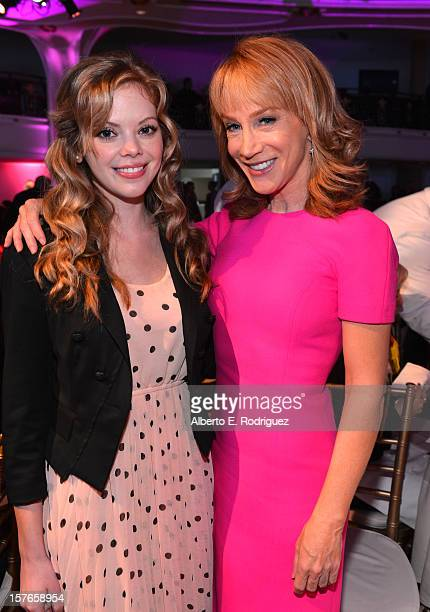 Actresses Dreama Walker and Kathy Griffin attend The Hollywood Reporter's 'Power 100 Women In Entertainment' Breakfast at the Beverly Hills Hotel on...