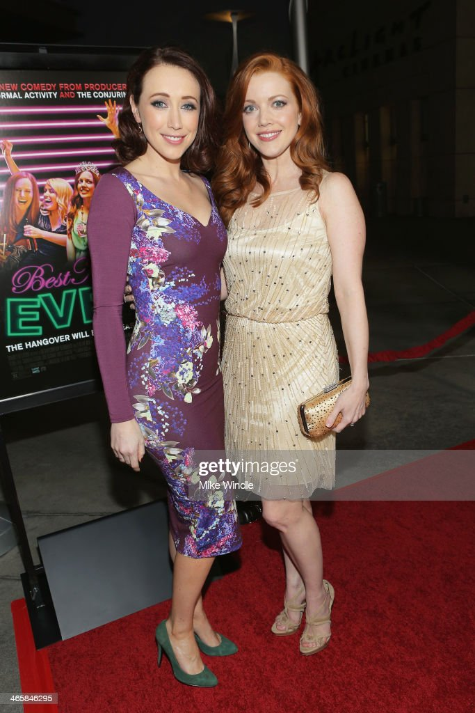 Actresses Eddie Ritchard (L) and Desiree Hall arrive at the premiere of Magnet's 'Best Night Ever' at ArcLight Cinemas on January 29, 2014 in Hollywood, California.