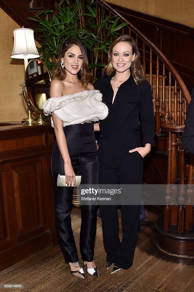 Actresses Eiza Gonzalez and Olivia Wilde attend Ralph Lauren Vanity Fair Celebrate the SAGAFTRA Foundation at Ralph Lauren on December 4 2015 in...