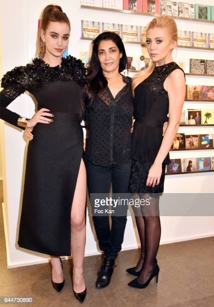 Actresses Elisa Bachir Bey Fatima Adoum and Julia Battaia attend 'Facade16' Magazine Issue Launch at Colette on February 23 2017 in Paris France