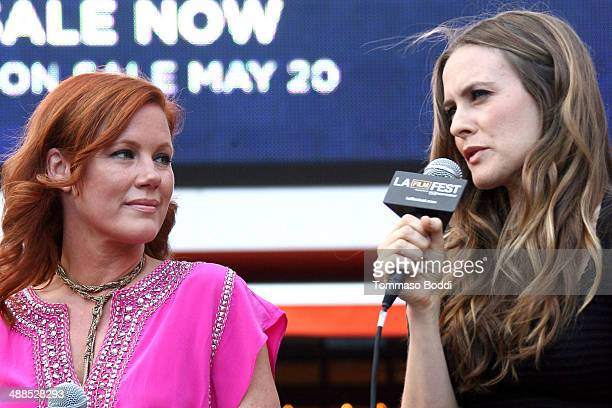 Actresses Elisa Donovan and Alicia Silverstone attend the Film Independent's PreFestival outdoor screening of 'Clueless' held at LA LIVE on May 6...