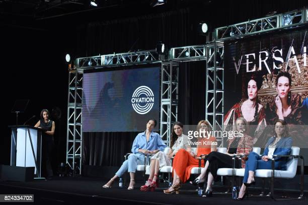 Actresses Elisa Lasowski and Anna Brewster producer Aude Albano and actresses Jessica Clark and Suzanne Clement speak at Ovation Celebrates the Women...