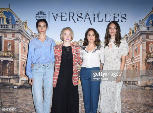 Actresses Elisa Lasowski Jessica Clark Suzanne Clement and Anna Brewster attend Ovation Celebrates the Women of 'Versailles' At Summer TCA Tour at...