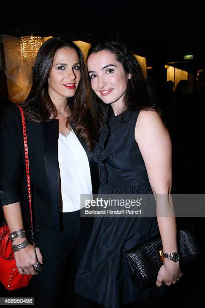 Actresses Elisa Tovati and Isabelle Vitari attend the 'Paris Merveilles' Lido New Revue Opening Gala on April 8 2015 in Paris France