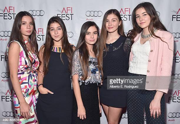Actresses Elit Iscan Doga Zeynep Doguslu Gunes Nezihe Sensoy Ilayda Akdogan and Tugba Sunguroglu attend the photo call for Cohen Media Group's...